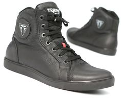 Now that I own a Triumph, I should get some motorcycle boots to match, right?   Triumph's Unisex Urbane Boots deliver comfort, style and protection while riding or relaxing. Find them at shop.triumphmotorcycles.com (Canada: shop.triumph-motorcycles.ca) and at your Triumph dealer. #Boots #Gear