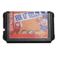 Fix-it felix cartucho de tarjeta de juego de juego de casa de 16 bits para el sistema Sega Megadrive génesis