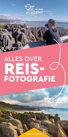 Alles over reisfotografie: leer hoe je mooie landschapsfoto's maakt, zoals hier bij Pancake rocks in Nieuw-Zeeland. Het boek reisfotografie staat boordevol fotografietips en inspiratie voor het maken van mooiere foto's op je vakantie. #reisfotografie #fotografietips