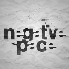 negative space #typography