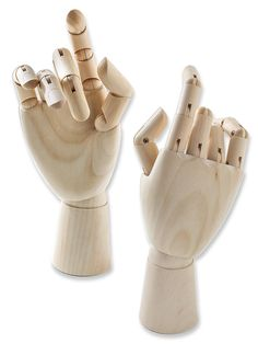 Wood Hand Manikins adult female right hand