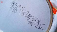 Sie Blusen Video hand embroidery border design for dress Diy Embroidery Designs, Hand Embroidery Patterns Flowers, Hand Embroidery Videos, Hand Embroidery Tutorial, Embroidery Flowers Pattern, Embroidery On Clothes, Creative Embroidery, Hand Embroidery Stitches, Embroidery Techniques