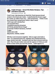 Mini Pie Recipes, Banana Bread Recipes, Tart Recipes, Cooking Recipes, Healthy Recipes, School Snacks, School Lunch, Yummy Snacks, Yummy Food