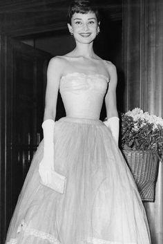 Audrey Hepburn at BAFTAs 1955