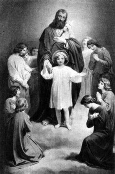 Holy card of St. Joseph and Christ