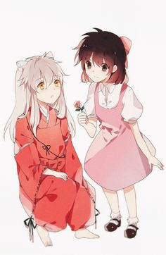 Awww!! Cute little inuyasha and kagome