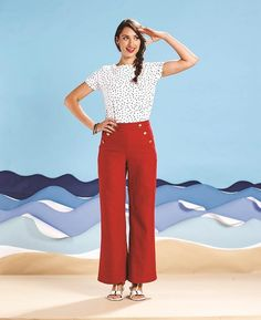 The Shannon Collection – Simple Sew - a nautical-inspired pattern collection featuring shorts, trousers, top and dress