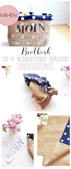 Brotkorb nähen - Anleitung von Fräulein Selbstgemacht