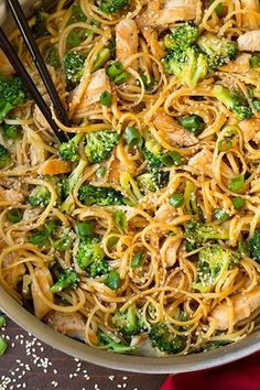 AMAZING! Quick and easy weeknight dinner!Sesame Noodles with Chicken and Broccoli | Cooking Classy