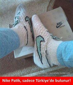 Nike Patik, sadece Türkiye'de bulunur! :) #mizah #matrak #komik #espri #şaka #gırgır #komiksözler #caps