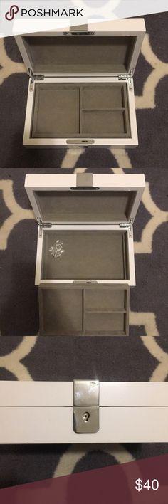 West Elm Jewelry Box White west elm jewelry box with key west elm Accessories