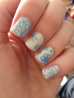 Frozen nails Frozen Nails, Beautiful Nail Art, 2nd Birthday, Hair Beauty, Create, Disney, Tips, How To Make, Design