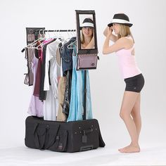 Finally - the dance bag you've always dreamed of! Put your wardrobe on wheels and  help make travel to competitions and performances a breeze.     This sturdy, durable bag holds up to 9 costumes, and includes extendable rods giving you a convenient place to hang them. Even in the smallest of dressing rooms, costume changes will be simple!