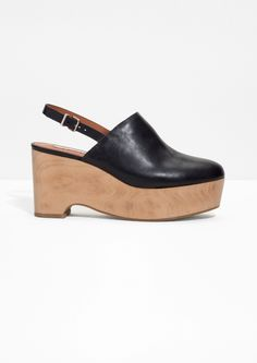 & Other Stories image 1 of Wooden Wedges in Black