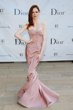 Coco Rocha  #BestDressed in Gown by Zac Posen, jewelry by Dannijo @ American Ballet Theatre opening night Spring Gala at Lincoln Center