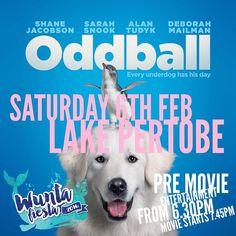 Tonight at #lakepertobe you can watch #oddballmovie under the stars as a part of the #wuntafiesta #destinationwarrnambool #love3280 #warrnamboolbeach #warrnamboolbreakwater #warrnambool by destinationwarrnambool