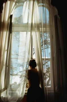 """""""A persistent breeze lifted the thin curtains, fluttering a few moments of tranquility into the turbulent day.""""  Susan Abulhawa, Mornings in Jenin"""