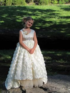 Gorgeous Girls Pageant Dress With Crystals Sash Flower Girl Dresses  Handmade Flowers Applique Communion Dress Bow Sash Kids Formal Tutu Toddler Pageant  Girl ... 9b1757f487a9