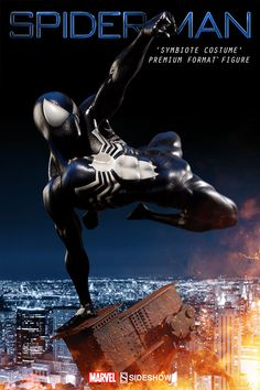 Marvel Spider-Man Symbiote Costume Premium Format(TM) Figure | Sideshow Collectibles