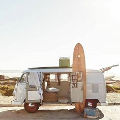 Volkswagon Van :: VDUB :: VW bus :: Volkswagen Camper :: The perfect vintage travel companion for the beach, surf, camping + summer road trips :: travel style & inspiration Surf Shack, Vw Beach, Beach Road, Beach Trip, Miami Beach, Vw Camping, Glamping, Jolie Photo, Surfs Up
