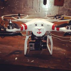 """A more """"friendly"""" personality for my DJI Phantom. I named him """"Humpty D"""" because I am always taking him apart and putting him back together :)"""