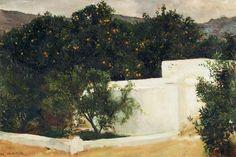 Joaquín Sorolla, Naranjos camino a Sevilla - 1903
