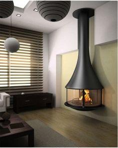 フードタイプ暖炉「ゼリア 908 壁付きモデル ガラス付き」