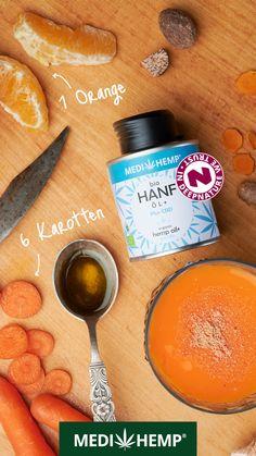 Organic Oil, Hemp, Cantaloupe, Fruit, Food, Orange Smoothie, Hemp Seeds, Food Items, Carrots