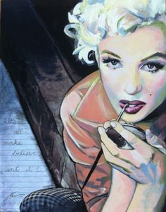 Marilyn 11X14 oil painting on steel.
