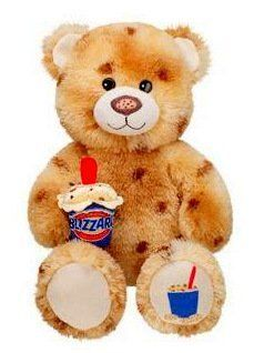 Brand New with Tag Retired Build a Bear Workshop Cookie Dough DQ Dairy Queen Blizzard Ice Cream Summer  Collection Unstuffed BAB Teddy Plush Toy Animal with Accessory In Stock Now @ http://www.bonanza.com/booths/TweetToyShop