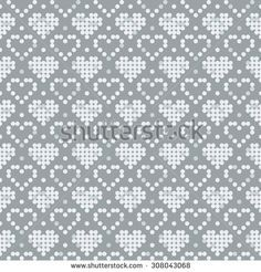 Find Pixel Pattern Seamless Background Texture Pattern stock images in HD and millions of other royalty-free stock photos, illustrations and vectors in the Shutterstock collection. Knitting Charts, Knitting Stitches, Knitting Patterns, Cross Stitch Heart, Cross Stitch Borders, Cross Stitch Patterns, Crochet Chart, Filet Crochet, Knit Stitches