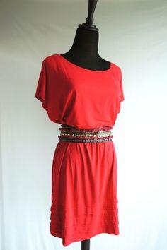 Urban Outfitters Red Draped & Ruffle Dress - $25 #TFCLOSETCONTEST