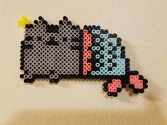 Pusheen Mermaid of the Sea perler beads
