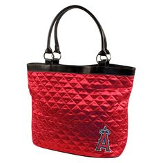 Los Angeles Angels MLB Quilted Tote (Light Red)