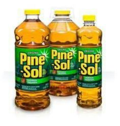 50/50 mix pine sol & water- spray bottle... keep flies away