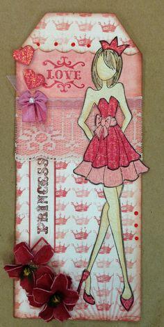 Julie Nutting Doll Stamp/Tag
