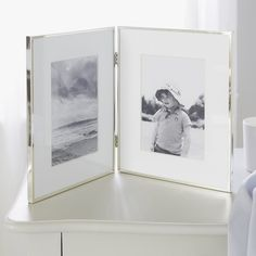 Buy Fine Silver Hinged Frame 4 x - from The White Company Silver Home Accessories, Decorative Accessories, Double Photo Frame, Luxury Gifts For Her, Luxury Candles, The White Company, Photo Picture Frames, White Gift Boxes, Pictures