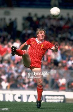 Sammy Lee of Liverpool in action during the Milk Cup final against Manchester United at Wembley Stadium in London Liverpool won the match 21 after extra time Mandatory Credit David Cannon /Allsport