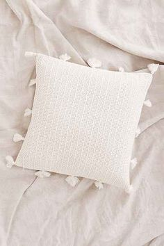 Sage Solid Crochet Pillow - Urban Outfitters 20x20 $100 for 2