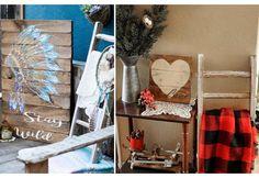Decorative Ladder | Ladder Pot Rack | Ladder Towel Rack