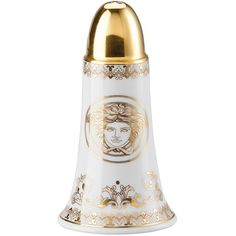 Versace Medusa Gala Salt Shaker ($195) ❤ liked on Polyvore featuring home, kitchen & dining, serveware and versace