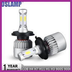 Oslamp H4 H7 H11 H1 H13 H3 9004 9005 9006 9007 9012 COB LED Car Headlight Bulb Hi-Lo Beam 72W 8000LM 6500K Auto Headlamp 12v 24v