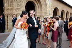 Bridesmaid dress and fall colors