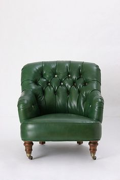 nothing better than an oversized leather chair...corrigan chair #anthropologie