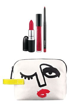 M·A·C 'Illustrated - Red x3' Lip Color & Bag by Julie Verhoeven (Nordstrom Exclusive) ($54.50 Value) available at #Nordstrom