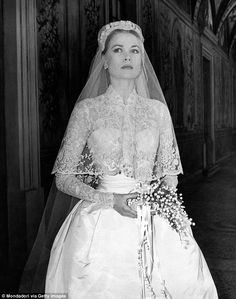 Kate and Nicky's wedding gowns mirrored the dress designed by Helen Rose of MGM Studios for Grace Kelly when she married Prince Ranier III, Prince of Monaco, in 1956