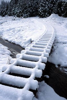 Snow on the tracks....