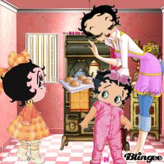 betty boop  as kids and Mommy - love it!