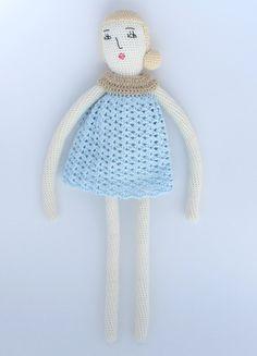 """Crochet doll pattern """"Nina"""""""