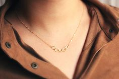 Hammered Gold Chain Necklace - $22.00